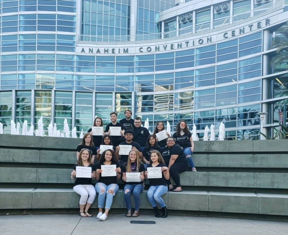 Eight Bryan High Journalism students won awards at this years JEA Nationals trip in Anaheim, California.